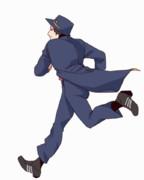 走る秀作さん