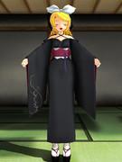 【MMD】リンちゃんに着物着せてみた【らぶ式改変モデル】
