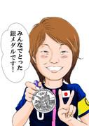 なでしこJAPAN 宮間あやは号泣のち笑顔が可愛い(^▽^)を描く!