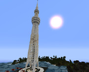 【minecraft】タワー(昼)