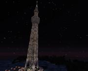 【minecraft】タワー(夜)
