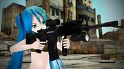 M4をかまえたミクさん