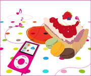 ケーキだって音楽くらい聴きたいかもしれない。