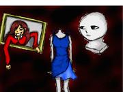 無個性・赤い服の女・マネキン