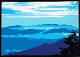 【切り絵】燕岳登山道からの八ヶ岳