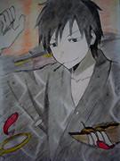 【DRRR!!】アナログで臨也描いてみた【お米】