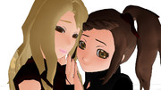 きすみーの楓ちゃんとカリーナちゃん