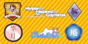 Hyper♂超speed♂Gayniassで作ったロゴ