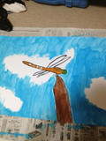 夏休みの宿題のトンボの絵