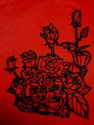 切り絵の薔薇