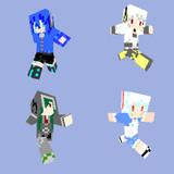 【Minecraft】なんとなくメカクシ団の4人【スキン】