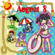 8月(テンキャラ合作カレンダー)