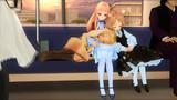 電車でレア様が膝枕してる