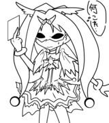 「キュアジョーカー…orz」 線画