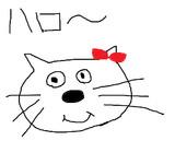 キティちゃん 描いてみた
