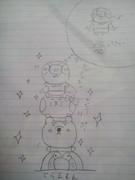 下手なものが勉強の休憩中に頑張って描いてみました
