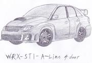 WRX STI描いてみた