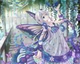 青い鳥と蝶