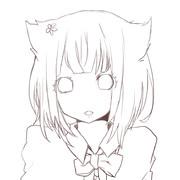猫耳少女の線画あああああああ!!!