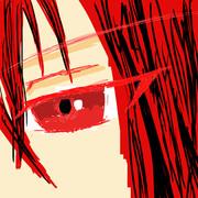 た···げふんげふん 赤い髪の人の真顔でiPhoneとか見てそう