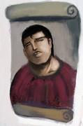 フレスコ画修復したら赤い布のいい男になってた