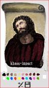 キリスト絵 修復してみた