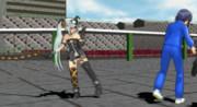 [GIFアニメ] ともみ回し蹴り VS 鞭アリス