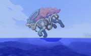 マイクラで海の上にスイクン作ってみた