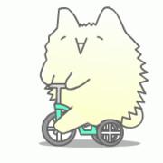 【GIFアニメ】もっさりさん三輪車