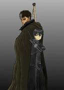 黒い剣士と黒の剣士
