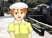 某アニメの女子アナのコスプレをした逢沢夏海