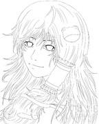 【線画描くの】早苗さん【疲れたぞよ】