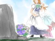 貴女に捧げるのは、クレマチスとシオンの花