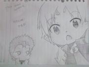 【シャーペンで描いてみた】明久&雄二の召喚獣