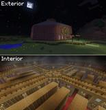 【Minecraft】 ちょっとした図書館を作ってみた
