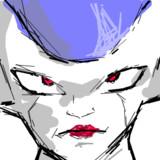 制限時間、5分で描いたフリーザ