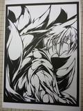 切り絵原画1/2 妖狐×僕SS
