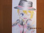 色鉛筆とクーピーで翔ちゃん!
