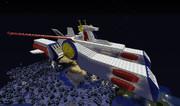 【2番煎じ】ほぼ1/1 ペガサス級強襲揚陸艦ホワイトベース(実はまだ未完)〔Minecraft〕