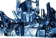 映画「トランスフォーマー」 オプティマス・プライムを描いてみた