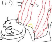 イメージでポケモン金銀全種描いてみた「バクフーン」