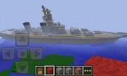スマホ版マイクラで戦艦を作ってみた