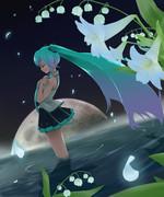 初音ミク×月×花