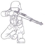 ドイツ国防軍ライフル兵【カルカノM1891ver.】