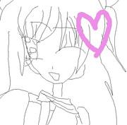 紫ノ原ゆいを描かせてもらいました。