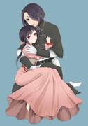 細川夫婦。