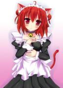 猫メイド(塗り直しました)