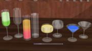 カクテル用のグラス4種類