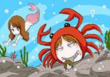 海の中のかにみそPとデスおはぎ&小山乃舞世さん