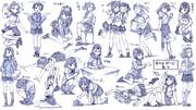 女の子制服ポーズ練習20ポーズ